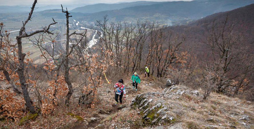 Alergare montana in Padurea Craiului treptele lui Czaran Traseul Deventului featured