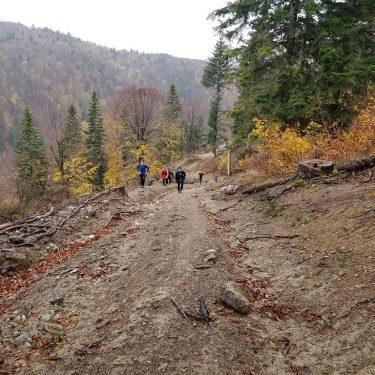 Alergare montana Valea Iadului Traseul albastru