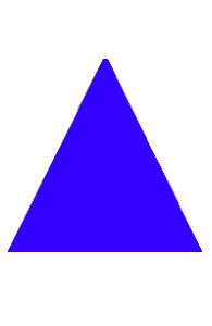 traseu triunghi albastra