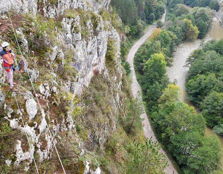 Padurea Craiului Defileul CRisului Repede via ferrata podu indian